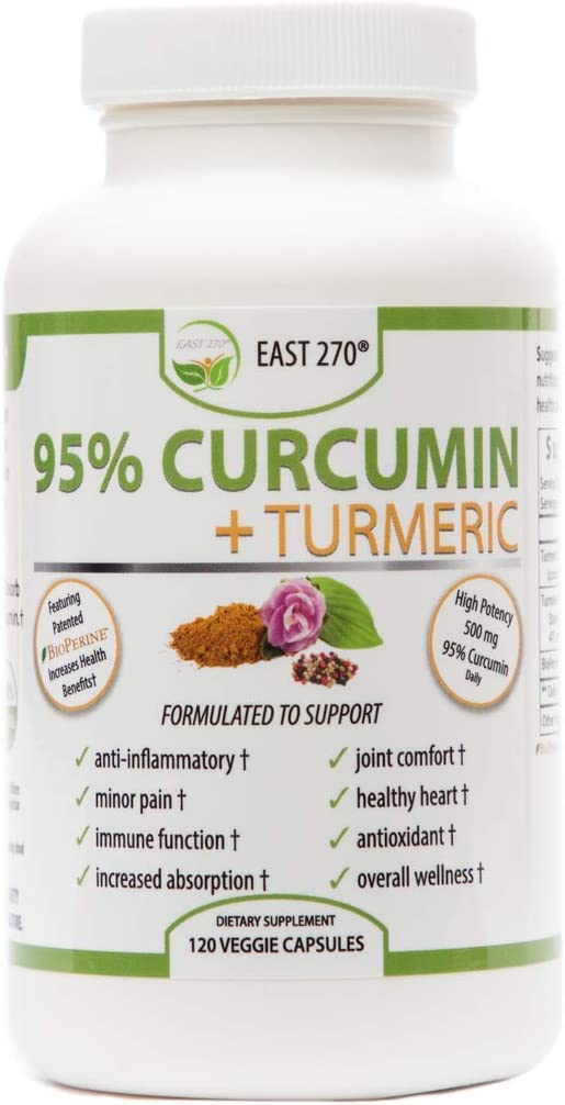 Curcumin Plus 1500mg – with Piperine BioPerine, Black Pepper Advance Absorption – Made in USA – 120 Veggie Capsules, Radiant Skin, Arthritic Pain Relief, Joint Comfort, Inflammation Relief, Wellness