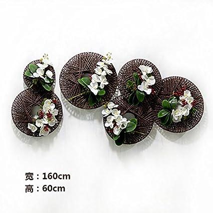 Artesanía de Flores Artificiales planta colgante Floral combinación de simulación, Pastoral para colgar en pared
