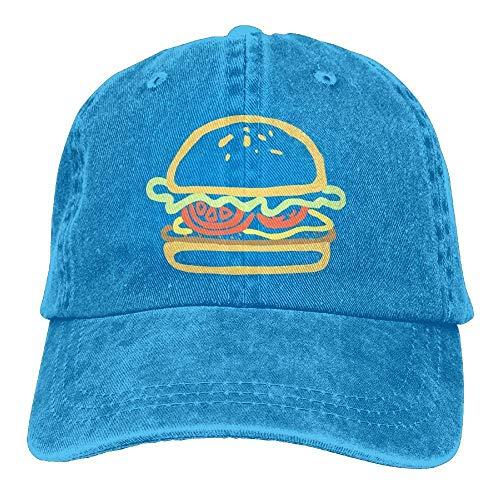 Delicious Womens Baseball Burger Dog Hat Hat Denim Yuerb béisbol Gorras Adjustable and Fitted EqqPzt