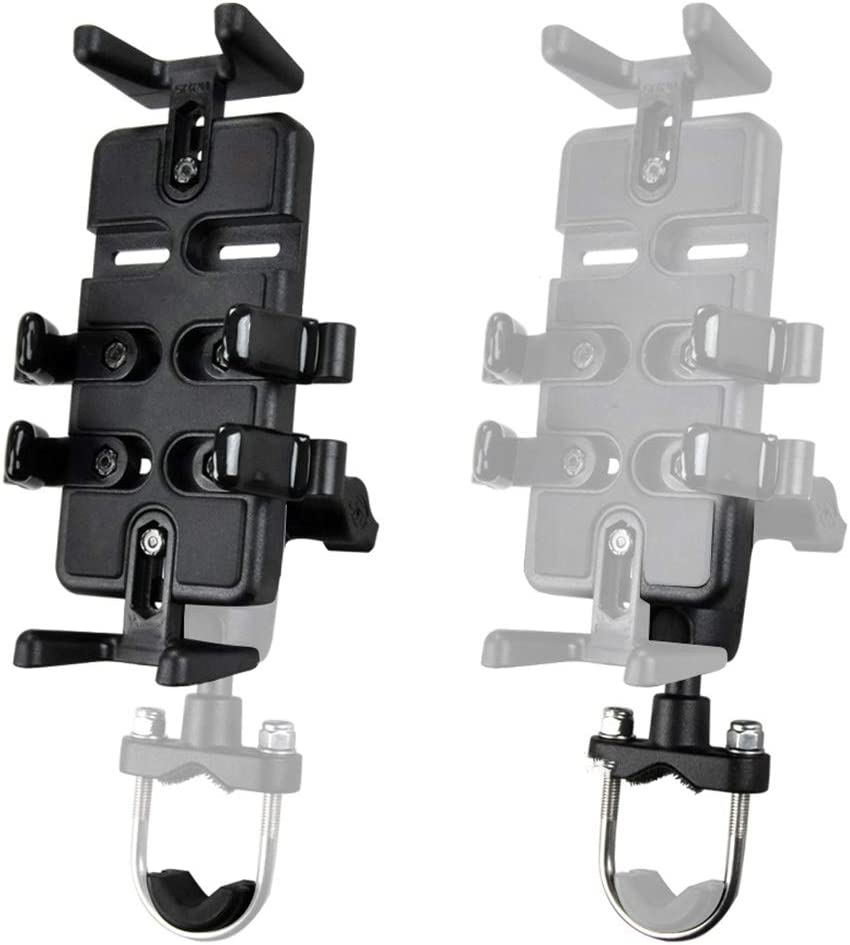 Color : Black, Size : One Size Ybriefbag Bike Phone Mount Motorcycle Mobile Phone Navigation Support Bike Rack Multifunctional Vehicle Rechargeable Clips Riding Equipment