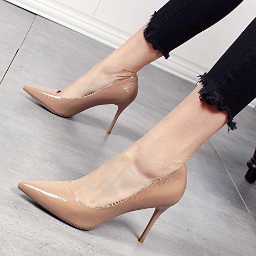 de Nuevo tacón Zapatos Simple Moda Verano y señaló La Estilo y Primavera de de el Zapatos b Damas YMFIE wBHX0q6