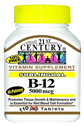 21st Century B-12 5000 Mcg Sublingual Tablets, 110-Count by 21st Century