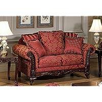 Serta Upholstery 7650FRLS 7650FRLS03 Traditional Style Loveseat in Momentum, Magenta