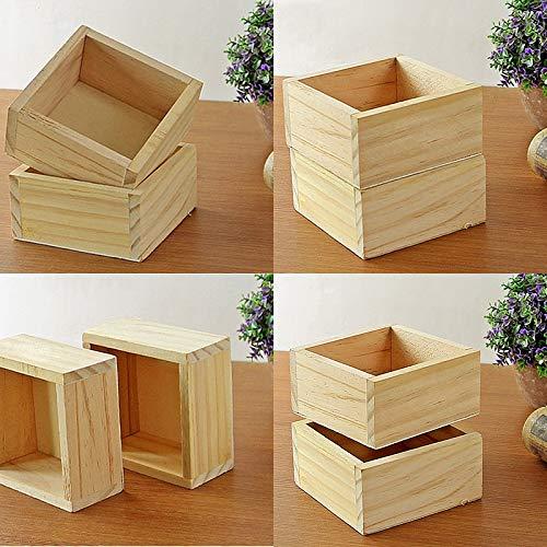 Best Quality - Flower Pots & Planters - New Succulent Pot Wood Garden Flower Seeds Herb Planter Rectangle Trough Plant Bed Flowerpot Nursery Bonsai Case Storage Box - by MANGO. - 1 PCs
