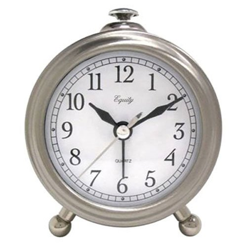 Equity 25655 Metal Quartz Alarm Clock ()