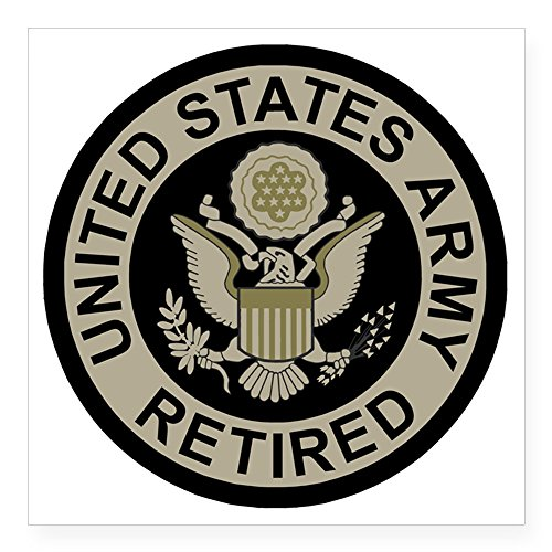 CafePress - Army-Retired-Subdued Square Sticker 3