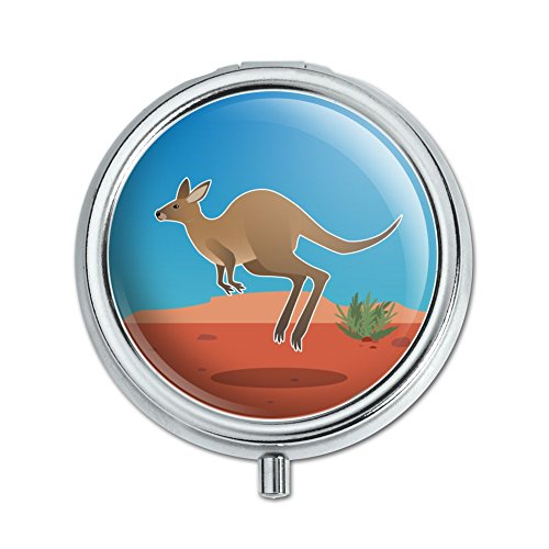 Kangaroo Hopping in the Australian Outback Pill Case Trinket Gift (Australian Outback Animals)