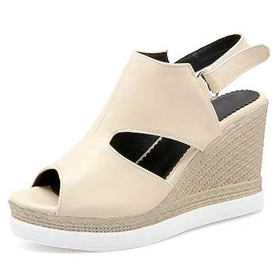 3b042d36998 Amazon.com   GIY Womens Wedge Platform Sandal Comfortable Peep Toe ...