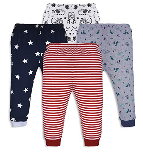 minicult Baby-Girl's Regular Fit Pant ( Pack of 4 )