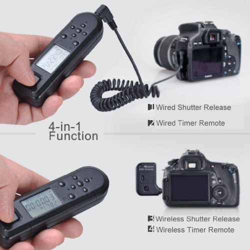 Aputure WTR3C Pro Coworker Wired/Wireless Timer Remote Controller ¢ò for Canon EOS 1D Mark IV, 1D(s) Mark III, 1D Mark III, 5D Mark III, 5D Mark II, 1D(s) Mark II,1D Mark II(N), 1D Mark II,50D, 40D, 30D, 20D, 10D, 7D, 5D,1DX,1D C,1Ds, 1D, 1V, EOS 3,D2000