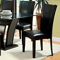 247SHOPATHOME Idf-3710SC Dining-Chairs, Espresso