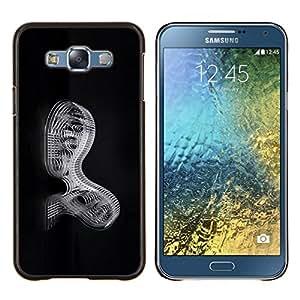 """Be-Star Único Patrón Plástico Duro Fundas Cover Cubre Hard Case Cover Para Samsung Galaxy E7 / SM-E700 ( Mecánica Abstract"""" )"""