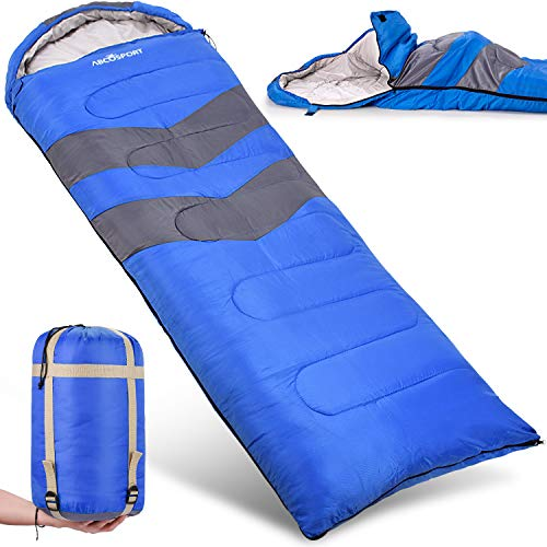 Sleeping Bag - Lightweight, Waterproof, Compact with Compression Sack - For Adults, Kids & Boys - Great for 4 Season Traveling, Backpacking, Hiking, Outdoor - Best Camping Gear & Equipment {New}]()