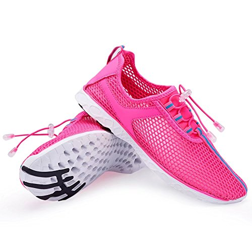 CIOR Fantiny Womens Quick Drying Aqua Water Shoes Mesh Slip-on Athletic Sport Casual Sneakers For Men 02rose Rl3hlR