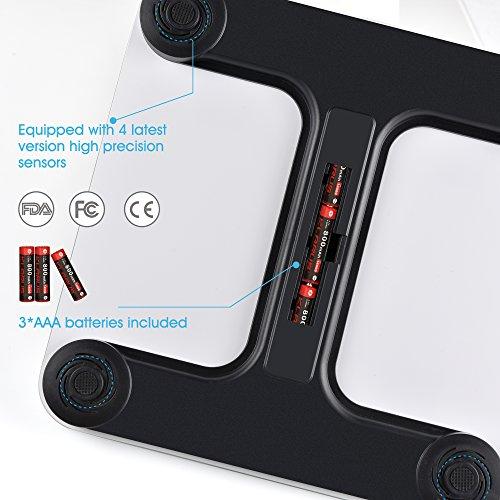 renpho k rperfettwaage bluetooth personenwaage mit app. Black Bedroom Furniture Sets. Home Design Ideas