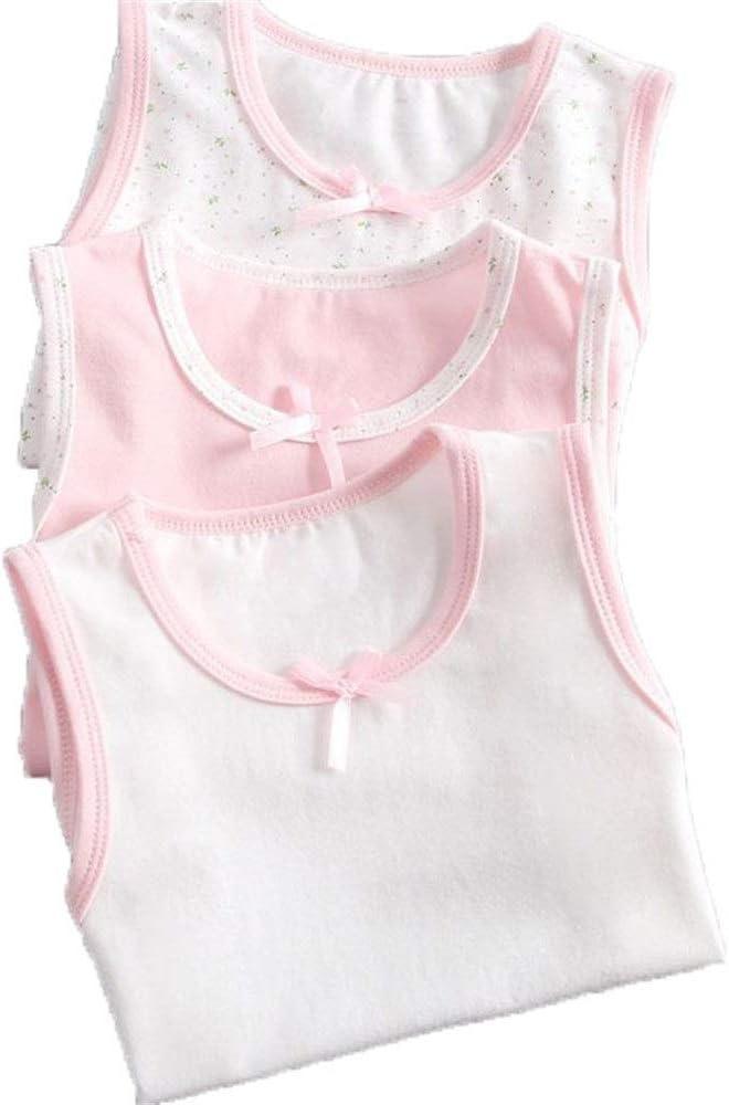 Camisetas sin mangas para niños Algodón peinado para niños Ropa infantil Ropa interior delgada blanca Camisetas sin mangas Cuello redondo de niña Camisetas sin mangas Edad 3-8 Para niños o niñas: Amazon.es: