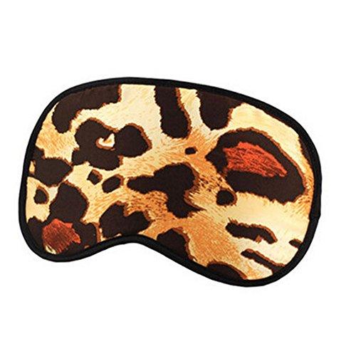 Elegant Silk Sleeping Eye Mask Sleep Mask Eye-shade Aid-sleeping,Leopard Grain,A (Freeze Frame Eye Cream compare prices)