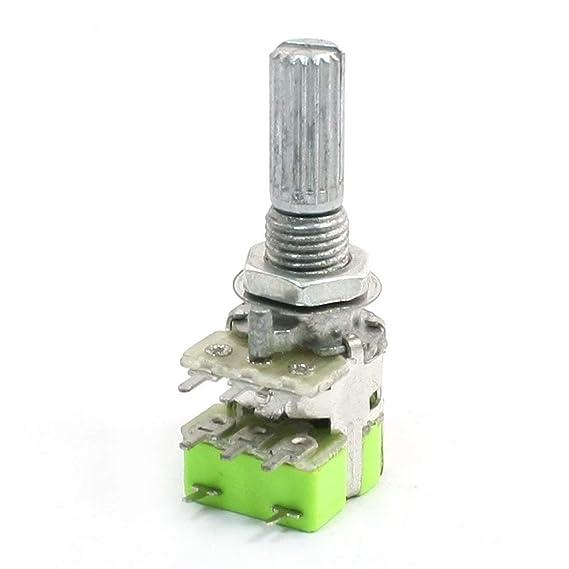 R B50K 50K Ohm Dual-Linear Verjuengung Lautstaerkeregler Potentiometer Schalter SODIAL Potentiometer