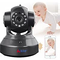 A0CHAN HD 960P Wireless Network WiFi IP Camera Indoor Security Webcam Night Vision P2P Onvif CCTV Baby Monitor For Mobile Phone Remote Monitoring Two Audio Support Maximum of 64G TF Card(Black)