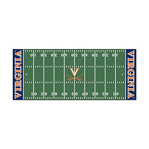 FANMATS NCAA University of Virginia Cavaliers Nylon Face Football Field - Football Cavaliers Virginia Rug