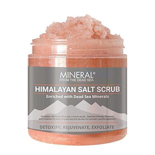Mineral from the Dead Sea Himalayan Salt Scrub, Exfoliate and Detoxify, 20 oz - Aromatic Dead Sea Bath Salt