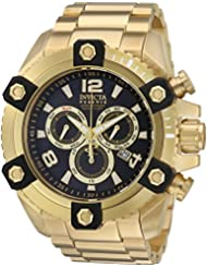 Invicta Mens Reserve Swiss Quartz Stainless Steel Casual Watch, Color:Gold-Toned (Model: 15827)