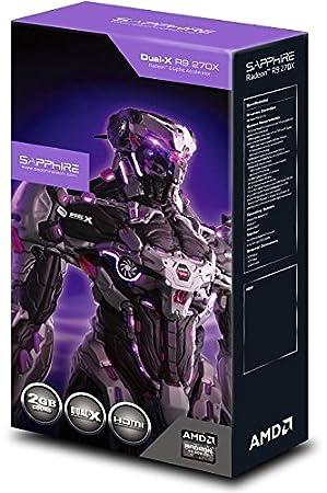 Sapphire Dual-X R9 270X OC - Tarjeta gráfica (2 GB DDR5 SDRAM, Versión DirectX 11.2, Versión OpenGL 4.2, 256 bit, HDMI, DisplayPort, 1020 MHz GPU), ...