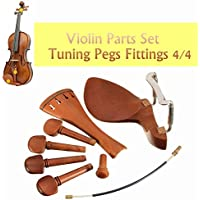 New 4/4 Jujube Wood Violin Part Fittings Tuning Peg Tailpiece Chinrest Endpin Tailgut By KTOY
