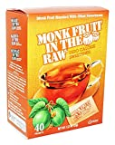 Monk Fruit in the Raw Sweeteners, 40 ct (2 pack), 1.12 Oz