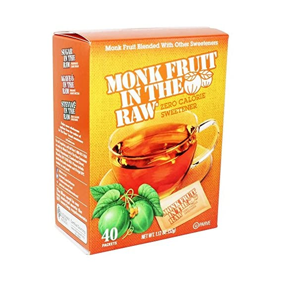 2 Pack : Monk Fruit in the Raw Sweeteners, 40 ct (2 pack), 1.12 Oz