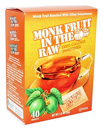 Monk Fruit in the Raw Sweeteners, 40 ct (2 pack), 1 12 Oz