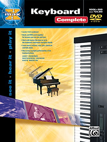 Alfreds Max Keyboard - Alfred's MAX Keyboard Complete: See It * Hear It * Play It (Book & DVD (Hard Case)) (Alfred's Max Series)
