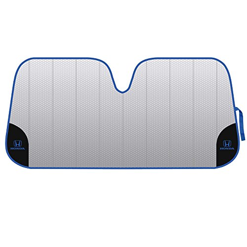 warner-brothers-hdas-2101-honda-front-windshield-sunshade-blue-logo-on-black-accordion-folding-auto-