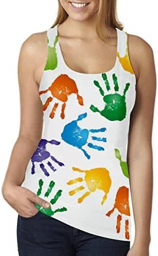 RAISEVERN Women's Funny Casual Racer Back Tank Top Sleeveless Tops Shirt Multi-Color S-XL