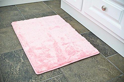 Persian Area Rugs 17x24 Pink bath room floor mat (Pink Bath Mat)