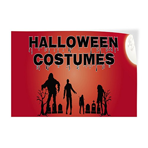 Decal Sticker Halloween Costumes #1 Style E Holidays and Occasions Halloween Costumes Store Sign (Multiple Sizes Available) - 7inx5in, One Sticker ()