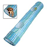 Pecute Pet Tunnel Puppy Dog Fun Collapsible Pet Obedience Agility Training Tunnel Striped Cave Chute Tool Rabbit Ferret Play Toys