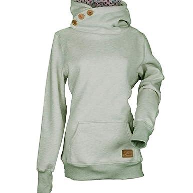 quality design dd422 99395 Bekleidung Longra Kapuzenpullover Damen Kapuzenjacke Frauen Schreag Kragen  Kariert Kapuzenshirt Hoodies Pullover Damen Gestreift Pullovershirt ...