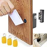 Electronic Cabinet Lock Kit Set Hidden DIY Lock for Wooden Cabinet Drawer Locker RFID Card/Tag Entry