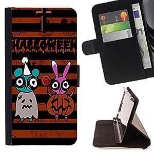 King Case - FOR Apple Iphone 5 / 5S - Words may be false - Prima caja de la PU billetera de cuero con ranuras para tarjetas, efectivo Compartimiento desmontable y correa para la mu?eca