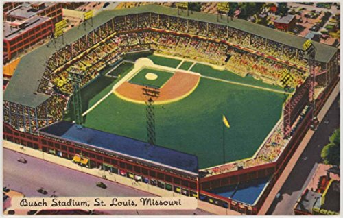 Old Busch Stadium - Sportsman's Park (Vintage St. Louis Missouri Postcard) #K1430
