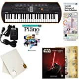 Homeschool Music - Learn to Play the Piano Pack includes (Star Wars® - A Musical Journey (Music from Episodes I - VI) 5 Finger Book) Casio SA76 Keyboard w/Adapter, learn 2 Play DVD, Desktop Music Stand, Music Folder, Casio Adapter, and Music ...