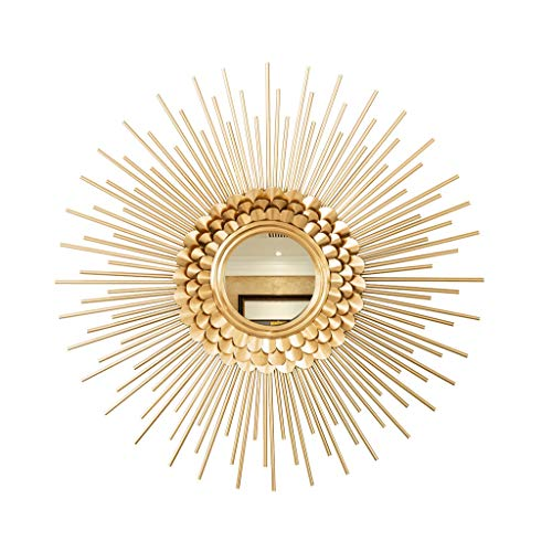 Gflyme Round Mirror Decoration Antique Gold 60cm Modern Style Decorative Living Room - Style Bathroom Retractable Antique Mirrors