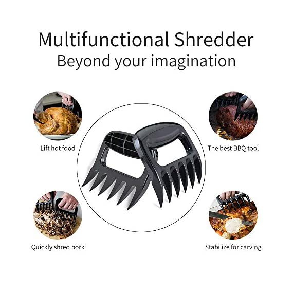 """Grill Brush and Scraper - 8 in 1 BBQ Sets   18"""" Grill Cleaning Brush 360° Stainless Steel Wire Bristles with Shredder Meat Claws   5x Silicone Oil Brushes for Barbeque Party Outdoor Camping Christmas 5 【5X FASTER CLEANING】 - The grill brush is made up of three brushes with stainless steel bristles, equivalent to 3 traditional brushes. So it has 5 times the speed than ordinary barbecue brush. More effective use area can be 360 degrees to clean up every residue. 【UNIQUE DESIGN】- An improved version grilling cleaner with stainless steel scraper can clean stubborn stains deeply and efficiently. 18""""long grill brush will keep your hand safely from the heat generated by the barbecue grill. 【MORE EFFECTIVE USE AREAS】- Grill Brush and Scraper is solid and durable. If you have a gas, charcoal, smoker, porcelain, infrared grill or other types like Weber grill or Foreman grill, it will be looking brand new by use our grill brush and scraper."""