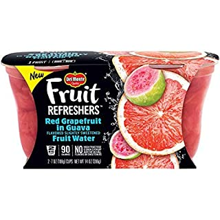 Del Monte Refreshers Red Grapefruit in Guava Fruit Water Cups, 7 Ounce (2 Count per Pack, Pack of 6) - SET OF 2