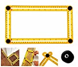 DGBC Angle Template Tool – NEW METAL BOLTS - Angleizer Tool For Repetitive Measuring & Marking Shapes & Angles, Angle Template Ruler/Maker Is A Great Stencil For Tile, Patio, Arches