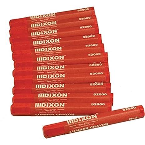 Dixon 52200 Lumber Marking Crayons, Green, 4-1/2 x 1/2 Hex, Pack of 12 4-1/2 x 1/2 Hex Cell Distributors