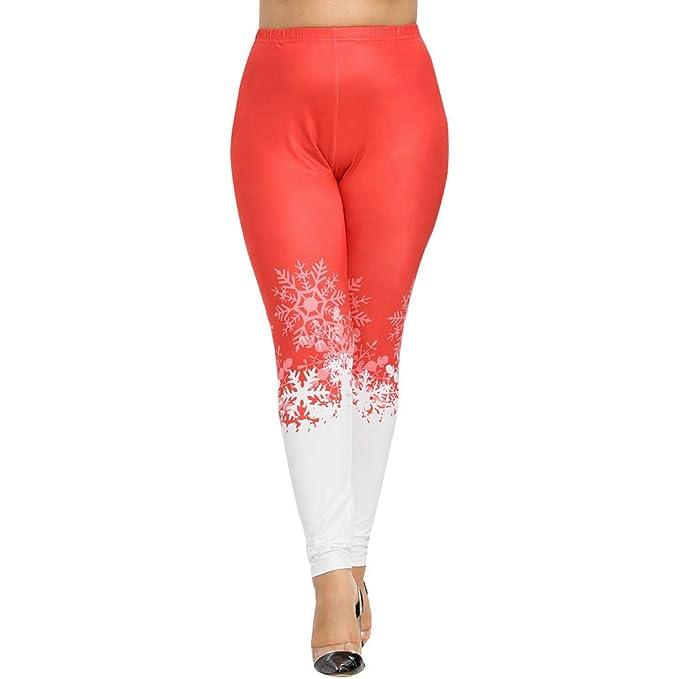 Plus Size Christmas Leggings.Wintialy Women Plus Size Christmas Print Lounge Leggings