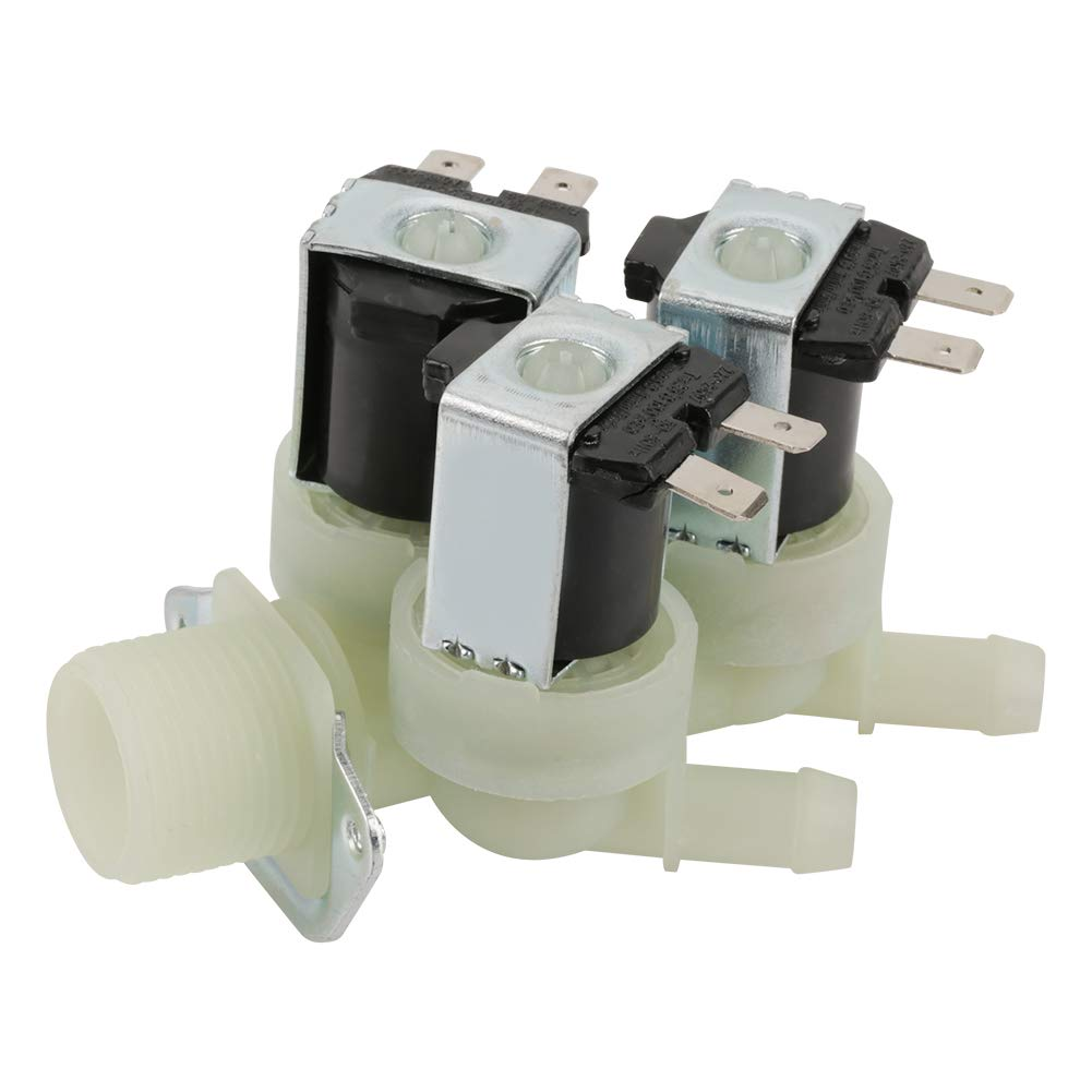 Medical Equipment etc. G3//4 Electric Solenoid Valve,AC 220V Solenoid Valve Electric,3 Way Water Inlet,N//C Normal Closed Electric Solenoid Valve,for Household Appliances Industrial Equipment