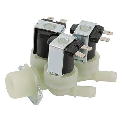 Válvula solenoide eléctrica Entrada de agua de 3 vías N/C Válvula ...